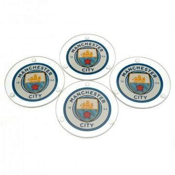 Manchester City Glass Coasters